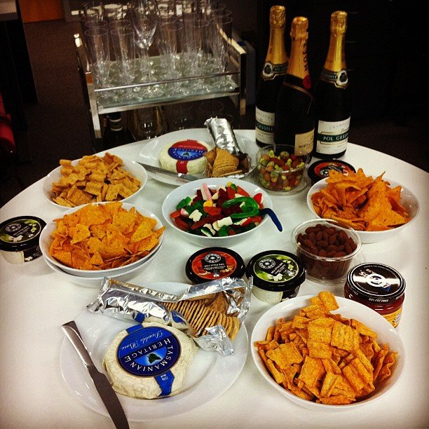 A Melbourne Cup spread fit for an office full of hungry (and thirsty!) boys and girls.