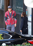 Ashton Kutcher and Mila Kunis went for food.