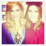 Aussie beauties Delta Goodrem and Kate Waterhouse caught up on Oaks Day. Source: Instagram user katewaterhouse7