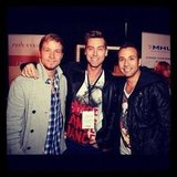 Lance Bass snapped a photo with Backstreet Boys' Brian Littrell and Howie Dorough. Source: Instagram user lance bass