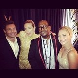 Ryan Seacrest ran into pals Heidi Klum, Randy Jackson, and Hayden Panettiere backstage.  Source: Instagram user ryanseacrest