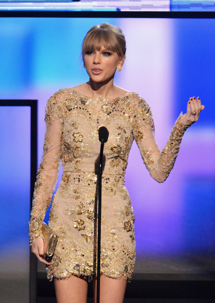 Taylor Swift was on stage at the American Music Awards in LA.