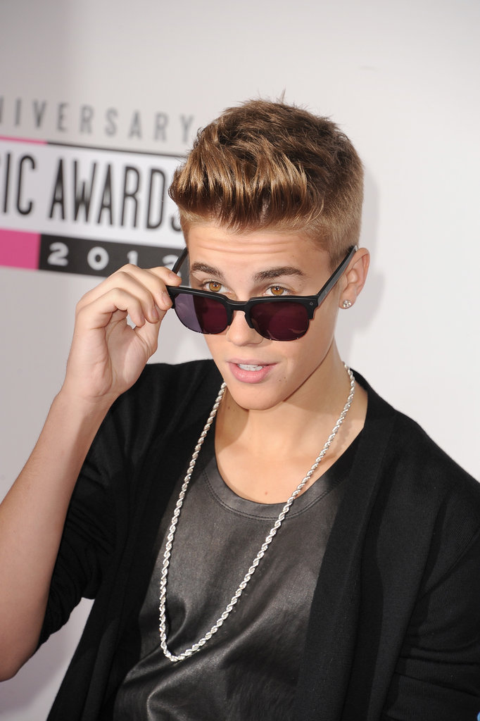 Justin Bieber wore sunglasses on the red carpet.