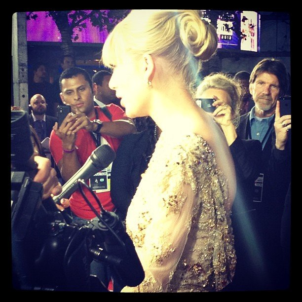 We snapped a close-up shot of Taylor Swift's beaded dress. Source: Instagram user popsugar