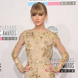 Taylor Swift Glistens in Gold at the American Music Awards