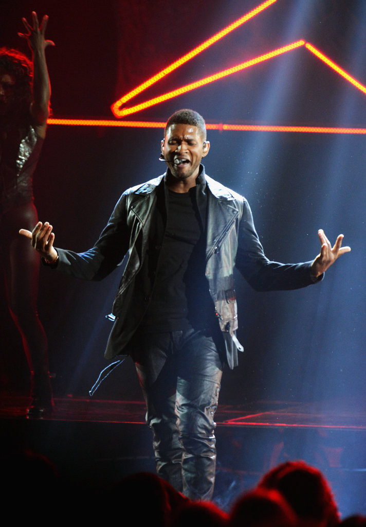 Usher stepped out at the American Music Awards.