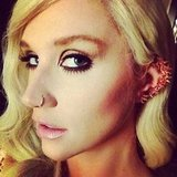 Ke$sha posted a close-up shot of her earrings and eye makeup prior to stepping on stage at the AMAs. Source: Instagram user iiswhoiis