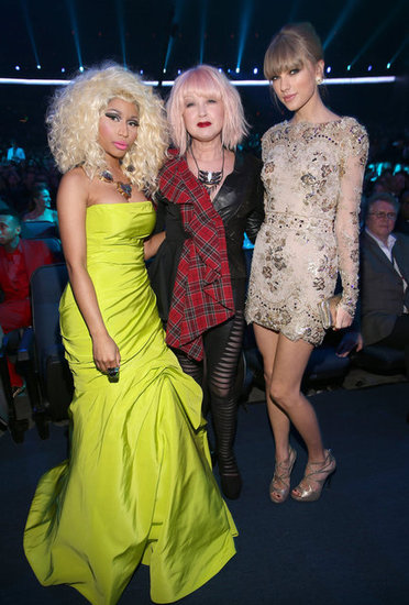 Nicki Minaj, Cyndi Lauper, and Taylor Swift got close for a photo.