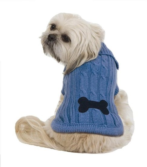 Fashion Pet Bone Patch Cable Dog Sweater