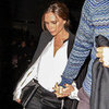 Victoria Beckham Wearing Tuxedo Pants