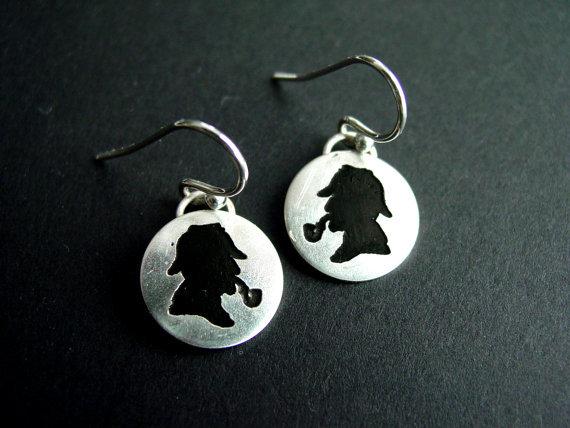 Etched Sherlock Earrings ($45)