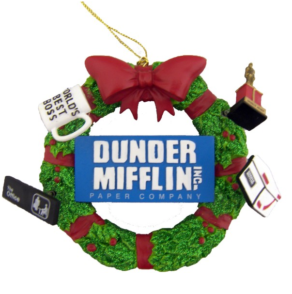 Dunder Mifflin Wreath Ornament ($12)