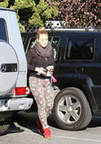 Hilary Duff wore a pair of printed pants in LA.