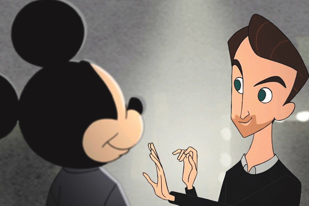 Nicolas Ghesquière puts the finishing touches on Mickey Mouse.