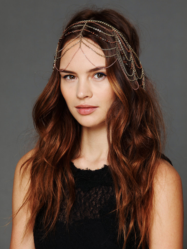 Every boho-chic girl needs a dramatic headpiece, and Free People's Multi-Chain Halo ($48) is perfectly embellished in all the right ways.
