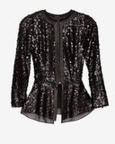 A perfect party piece, this  Rag & Bone Faren Sequin Peplum Jacket ($655) could be worn open over even the most casual white tank, or zipped-up as a top on its own.