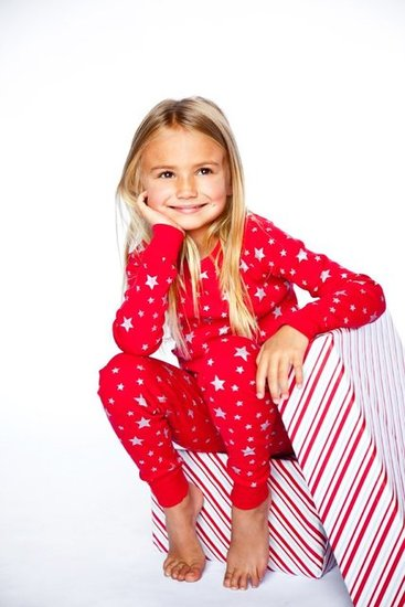 Skylar Luna Red/Silver Star Pajamas