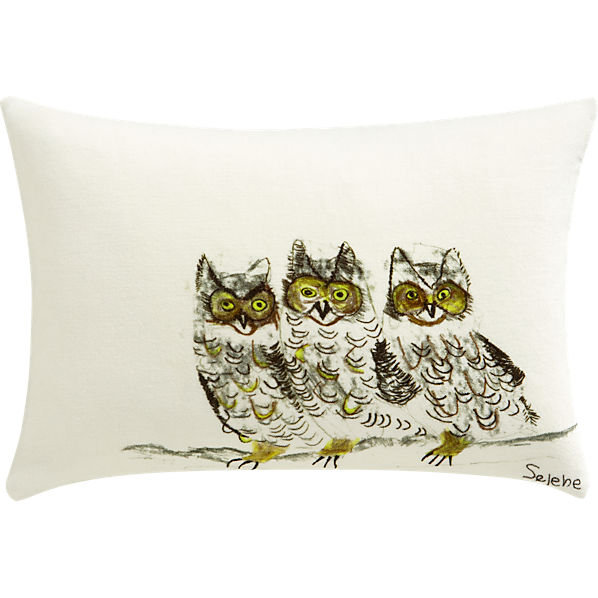 Gift this three owls CB2 pillow ($40) for a guaranteed hoot.