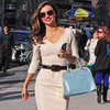 Miranda Kerr Carrying Blue Bag
