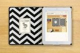 The interior chevron-fabric option for the iPad case.