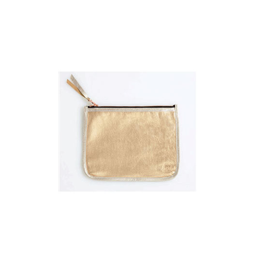 Shawn Burke Ltd Ed Pouch in Gold, $155