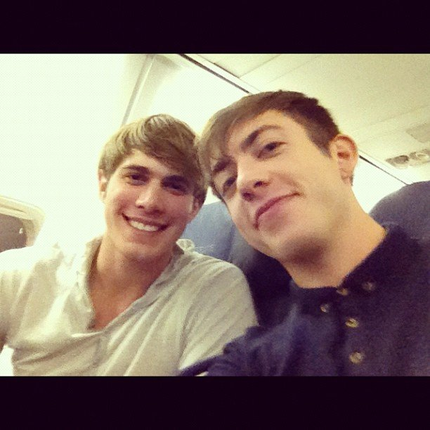 Blake Jenner and Kevin McHale hung out on a plane. Source: Instagram user kevinmchale