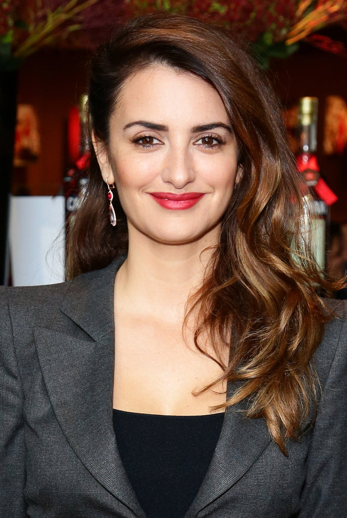 Penelope Cruz smiled at the unveiling of her Campari calendar.