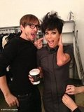 Eva Longoria wigged out with Ken Paves. Source: Eva Longoria on WhoSay