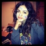Lucy Hale covered herself in Lisa Frank stickers. Source: Instagram user lucyhale89