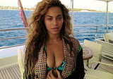 Beyoncé lounged in a bikini on a boat. Source: Tumblr user Beyoncé Knowles