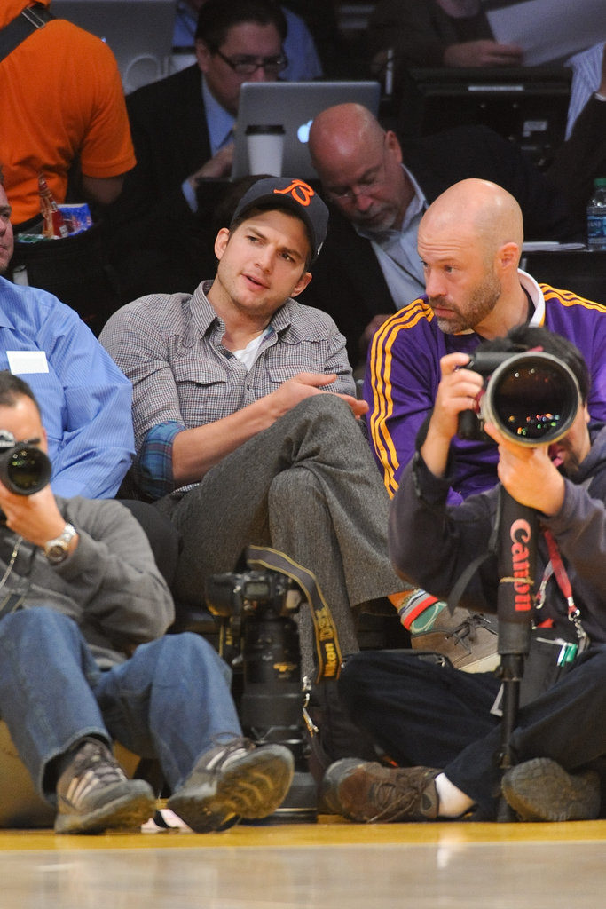 Ashton Kutcher gave his full attention.