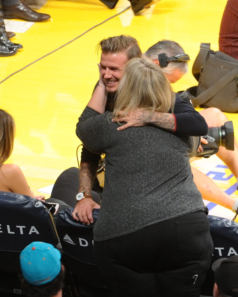 David Beckham got some love from a fellow Lakers fan.