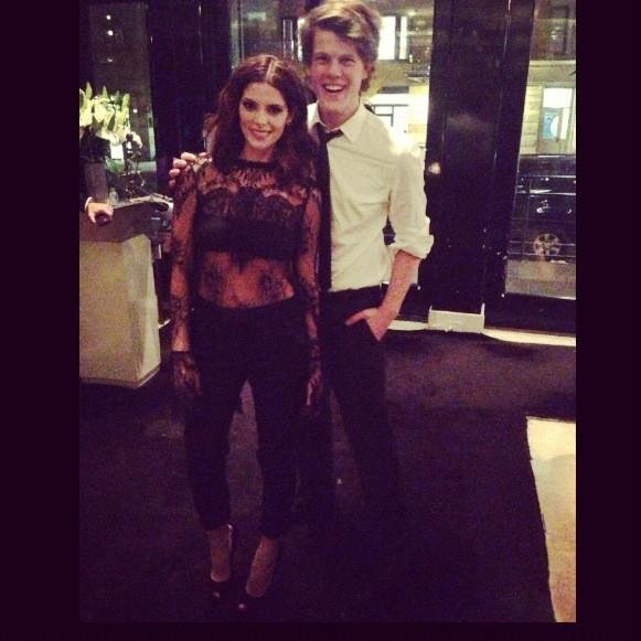 Ashley Greene posed with her date to the CFDA/Vogue Fashion Fund Awards, designer Wes Gordon. Source: Twitter user AshleyMGreene