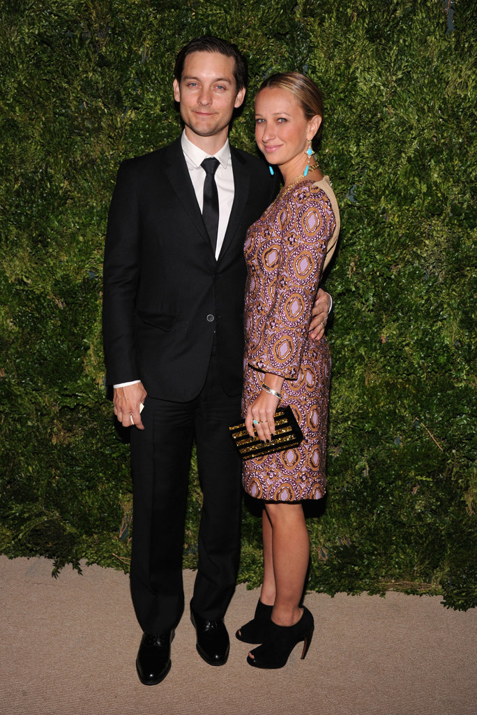 Tobey Maguire posed with his wife at the NYC awards.