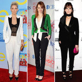 Celebrities Wearing Tuxedo Pants | Winter 2012