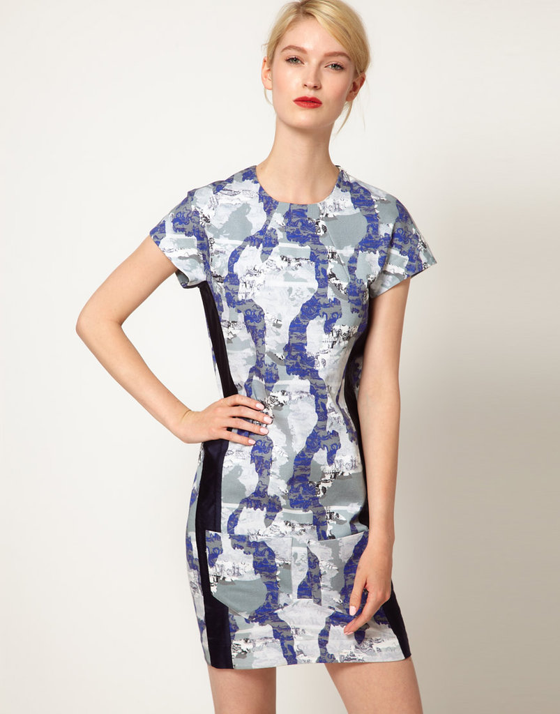 The gorgeous abstract print in serene blues makes this Ostwald Helgason Navigator Dress With Cocoon Back ($690) just downright pretty, while the black side-seaming makes it ultraflattering.