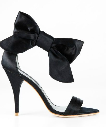 Bow-tied and beautiful, these Ann Taylor Jackie Bow Sandals ($198) would be the perfect feminine complement to a tuxedo-inspired style.