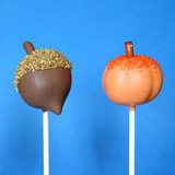 Acorn and Pumpkin Cake Pops