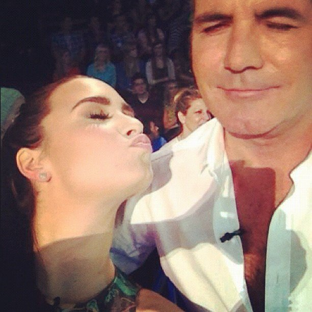 "Demi Lovato called Simon Cowell out on being a ""grumpy old fart."" Source: Instagram user demilovat"