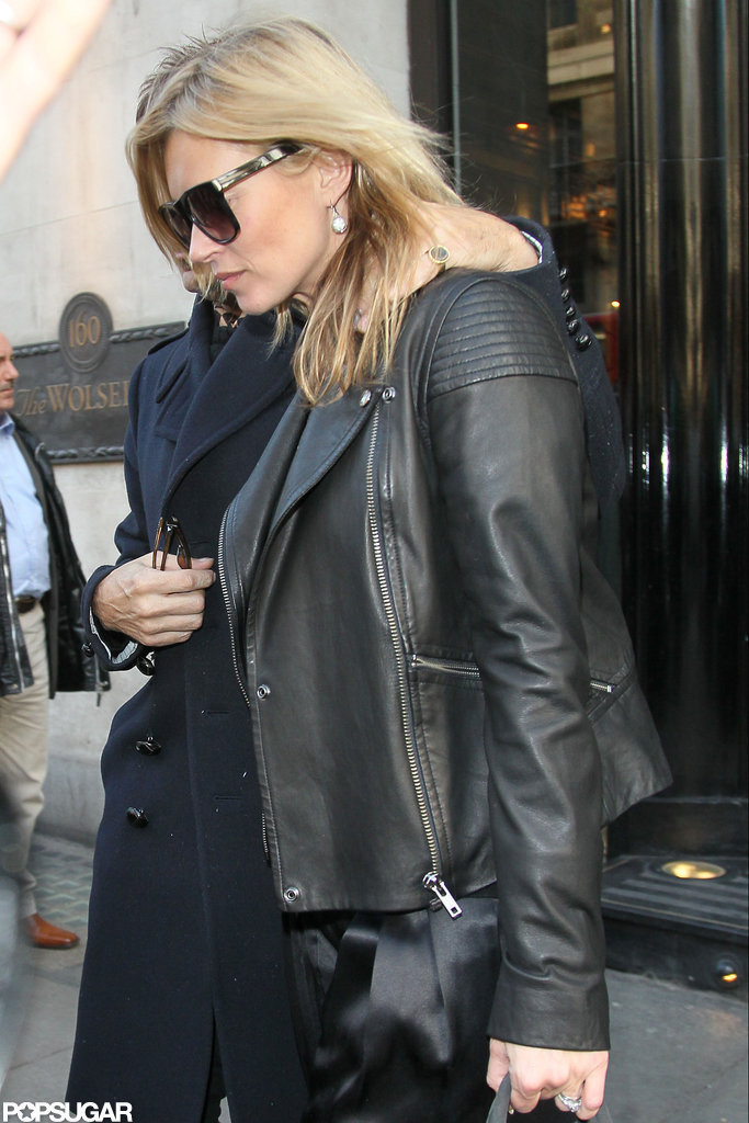 Kate Moss had lunch at The Wolseley in London.