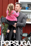 Ben Affleck took Seraphina to breakfast in LA.