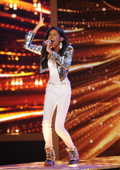 "Diamond White sang Beyoncé's ""Halo."""