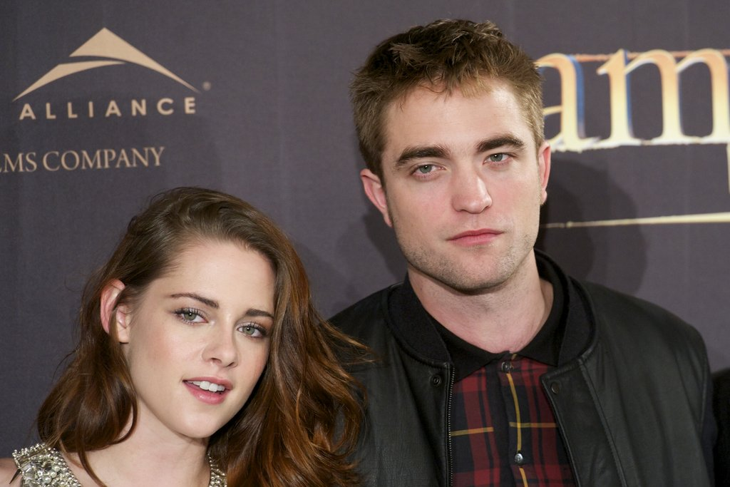 Kristen Stewart and Robert Pattinson posed for photos at the Breaking Dawn — Part 2 photo call in Madrid.