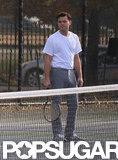Leonardo DiCaprio filmed a tennis scene.