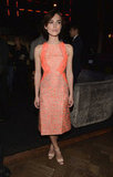 Keira slipped into a neoprene Richard Nicoll sheath for the Anna Karenina afterparty in LA.