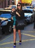 Miranda Kerr Dresses Flynn For Winter Weather in NYC