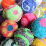 Needle Felted Wool Balls
