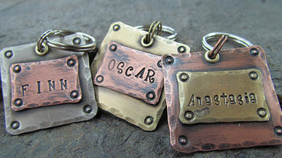 Mixed Metals Pet Tags