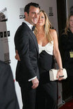 Justin Theorux and Jennifer Aniston stepped out together in LA for the American Cinematheque Awards.