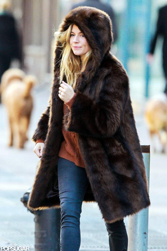 Sienna Miller Keeps Cozy in the Big Apple